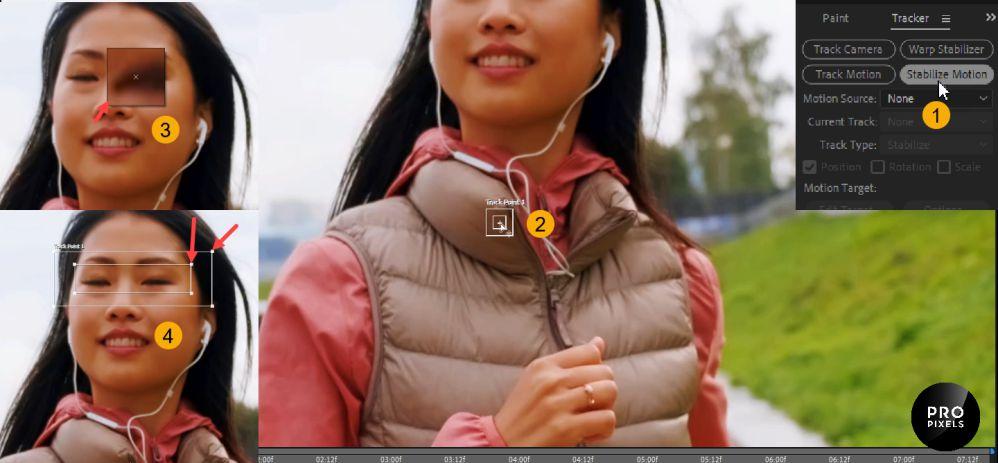 مشخص کردن نقاط پر کنتراست چهره در ویدیو