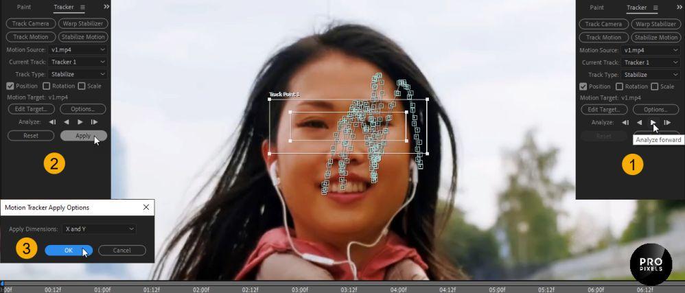 تنظیمات مربوط به منو motion tracker