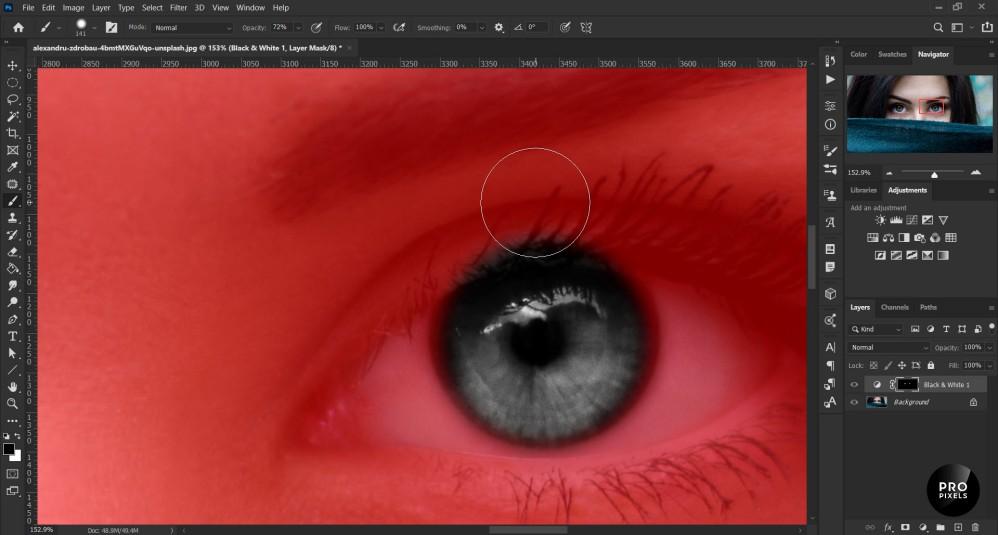 تغییر رنگ چشم به صورت حرفه ای