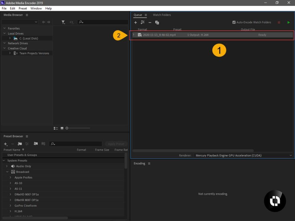 نرم افزار Adobe Media Encoder